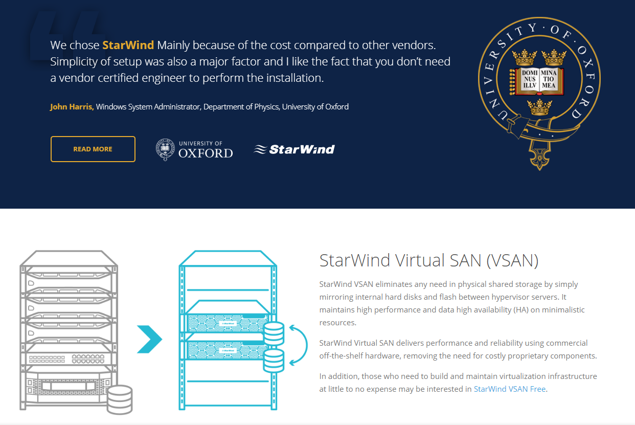 Starwind Software windows server 2019
